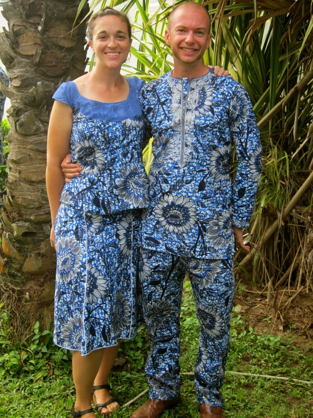 An oldie but a goodie: Our PC Benin swearing-in outfits from September.