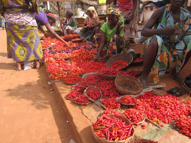 Market Day – Tomatoes, Onions, Peppers