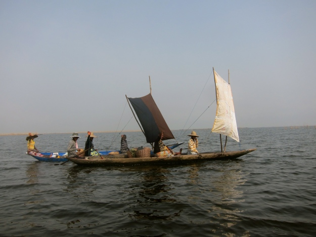 Lake Nokoué – Sail Boats with Fish for Market